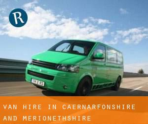 Van Hire in Caernarfonshire and Merionethshire